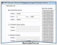 Barcode Generator for Shipping