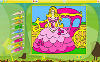 Color by Numbers - Princesses for Linux