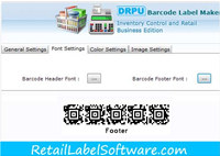 Retail Inventory Barcode Fonts