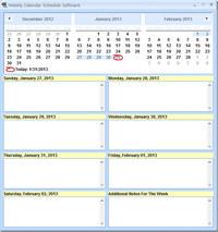 Weekly Calendar Schedule Software