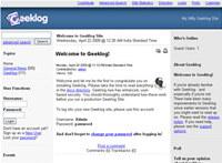 Webuzo for Geeklog
