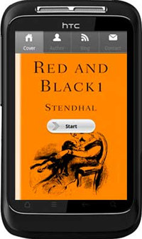 APPMK- Free Android book App Red and Black