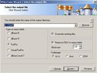 MDB (Access) to DBF screenshot medium