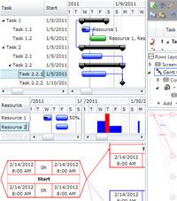 Gantt Chart Light Library screenshot medium