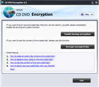 GiliSoft CD DVD Encryption screenshot medium