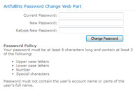 Password Change Web Part