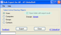 Bulk Export for Active Directory