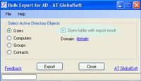 Bulk Export for Active Directory