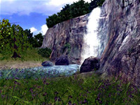 3D Vivid Waterfall Screensaver screenshot medium