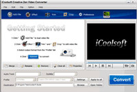 iCoolsoft Creative Zen Video Converter screenshot medium