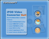 Cucusoft iPod Video Converter + DVD to iPod Suite screenshot medium