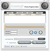 iCoolsoft iPhone Ringtone Maker