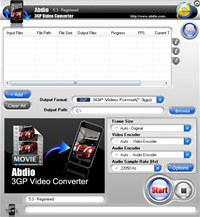 Abdio 3GP Video Converter