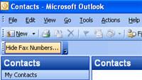 Hide Fax Numbers in Outlook