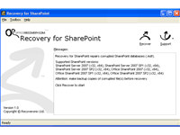 Recovery for SharePoint screenshot medium