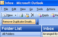 Remove Duplicate Emails for Outlook