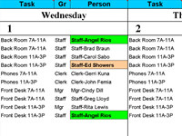 Calendar 50 People to Tasks With Excel