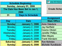 Create Floor Schedules for Your Agents