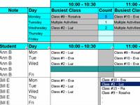 Create Student Class Schedules