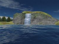 Mountain Lake Waterfall Screensaver