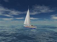 Sea Yacht Cruise 3D Screensaver screenshot medium