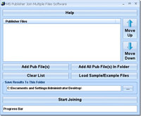 MS Publisher Join (Merge, Combine) Multiple Files Software