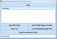 Convert Multiple PSD Files To JPG Files Software