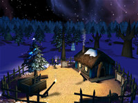 Fairy Christmas Day 3D Screensaver