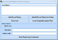 Excel Find and Replace Comments Software