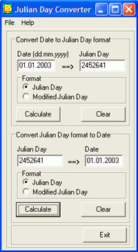 Julian Day Converter screenshot medium