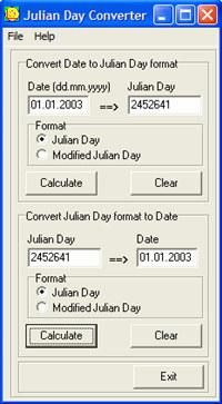 Julian Day Converter