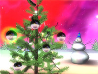 3D Space Christmas ScreenSaver