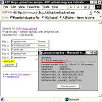 ASP pure file upload with progress