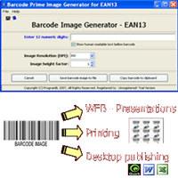 EAN13 barcode prime image generator