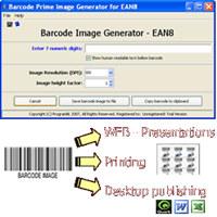 EAN8 barcode prime image generator