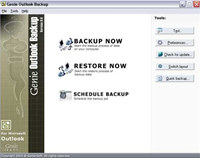 Genie Outlook Backup screenshot medium