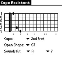 Guitar Capo Assistant - PalmOS Edition