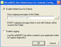 HiddenSave for Outlook