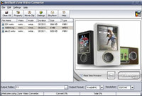 X-Soft Zune Video Converter screenshot medium