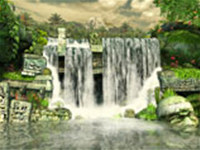 Mayan Waterfall 3D Photo Screensaver