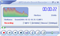 MP3 Audio Sound Recorder screenshot medium