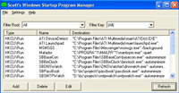 Scotts Windows Startup Program Manager