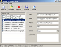 Simple MP3 Tag Editor