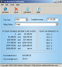 Tax Brackets Estimator