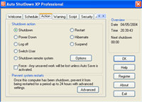 Auto ShutDown XP Professional screenshot medium
