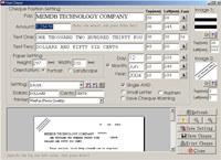 MemDB Cheque Printing System