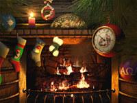 Fireside Christmas 3D Screensaver