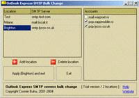 Outlook Express SMTP server changer