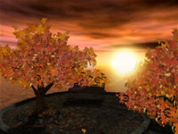 Autumn Sunset 3D Screensaver