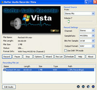 iSofter Audio Recorder Vista